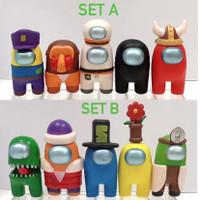 Among Us Impostor Set Action Figure Pajangan Hiasan Topper Kue - SET A ( 5 PCS )