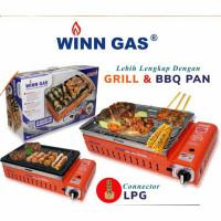 Winn Gas , W 2WS Grill , Kompor Gas , panggangan , Sate , 2 fungsi ,