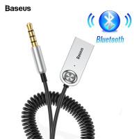 baseus ba01 usb mobil car wireless bluetooth 5.0 receiver aux 3.5mm