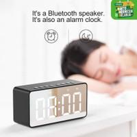 Naxen Speaker Alarm Bluetooth Mini Portable with FM Radio + Mirror
