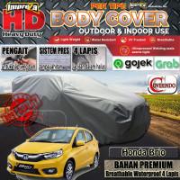 Body Cover Impreza HD 100% Outdoor Honda Brio - 4 Lapis - Abu-abu Muda