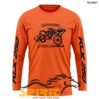 Atasan Baju Kaos Motor Distro KLX 250 Motocross Pria Panjang Original