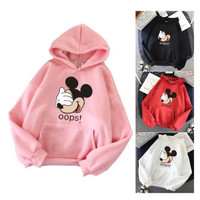 SWEATER HOODIE JAKET ANAK OOPS MICKEY ALL SIZE