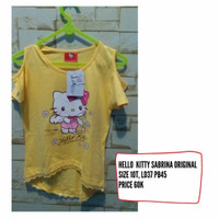kaos baju anak perempuan sabrina by hello kitty original sanrio