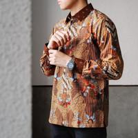 Baju Batik Pesta Pria Motif Sutra Tulis ATBM Asana Doby Premium Mewah