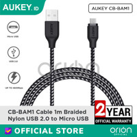 AUKEY Kabel Data Micro USB CB-BAM1 Charger Fast Charging Android 3A