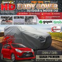 Body Cover Impreza HD 100% Outdoor Agya/Ayla - 4 Lapis - Abu-abu Muda