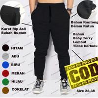 Celana Joger Training Pria Bahan Baby Terry Lembut TERMURAH [ 6 Warna]