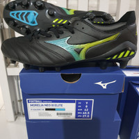 Sepatu Bola Mizuno Morelia Neo 3 Elite Black Blue Attol