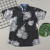 baju anak cowok Kemeja motif tropical dan salur 7 10 thn Elbrush