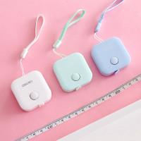 Meteran Kotak Pengukur Portable Mini Alat Ukur Badan Baju Pita 150 cm