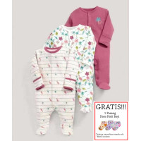 Baju Tidur Bayi Sleepsuit 3 in 1 Mamas Papas Premium Motif Flamingo