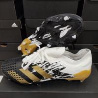 Sepatu Bola Adidas Predator 20.1 Low White Black Fg - Sepatu Soccer