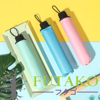 3D Payung Lipat Magic Umbrella Dimensi Lapisan Hitam ANTI UV AJ - fuschia/fanta