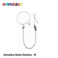 Rantai Burung size M AnimalnCo stainless steel parrot medium afgrey