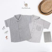 Ben Grey Shirt - Kemeja Abu Anak Laki-laki ala Korea BAHAN PREMIUM