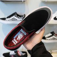 Sepatu Vans Slip On PRO BAKER ROWAN BLACK 100% ORIGINAL BNIB