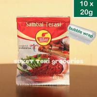 Finna Sambal Uleg Terasi Sachet 10 x 20gr Pack Renceng READY
