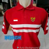 Polo Shirt - Kaos Kerah Pria - Tshirt Merah Putih Garuda