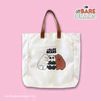 We Bare Bears Canvas Tote Bag Hug