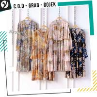 Baju Panjang Wanita Long Tunic Chati Rayon Viscose Motif