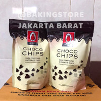 Choco chip Dark Chocolate tulip 1Kg - chocochips dark coklat
