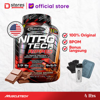 Muscletech Nitrotech Ripped 4lb Whey Protein Bstores