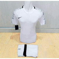 baju futsal sepakbola volly - Putih, M