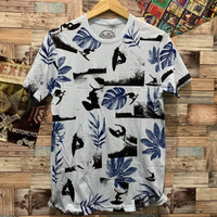Kaos motif daun distro pria atasan cowok t shirt bisa cod