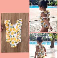 bikini renang bayi 3bln-4thn nanas rumbai swimsuit anak lucu