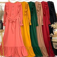 Gamis Wanita Terbaru Maxi Dress Voxy Premium - Maron