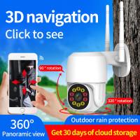 Outdoor CCTV, WIFI, IP CAMERA 1080P 2MP, 4 IR, 6LED, Auto Tracking