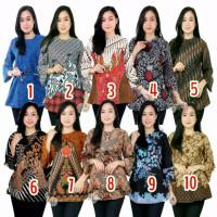 Baju Batik Atasan Wanita/ Blouse Batik Murah Wan / Tunik Batik Wanita