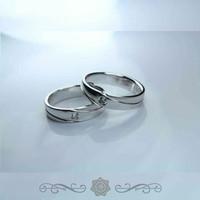 Cincin Emas Cicin Emas Putih Cincin Kawin Cincin Ukir Nama E04