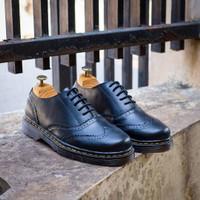 SEPATU KULIT AZCOST FOOTWEAR NEW WINGTIP BLACK ORIGINAL
