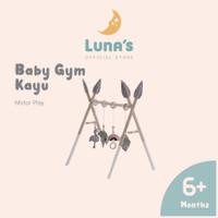 Luna's Baby Play Gym Kayu Mainan Montessori Edukasi Anak