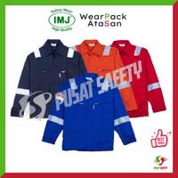 Baju Kerja / Seragam Kerja / Wearpack Safety IMJ Full Cotton Scot 3M - Merah, L