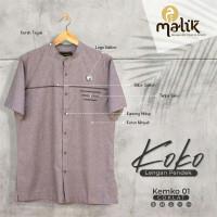 Baju Koko Grosir MALIK GG1 - Atasan Pria Kasual Kantor Lengan Pendek