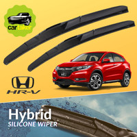 Wiper Frameless Original Honda HRV Karet Kaca Mobil Silicon Hybrid