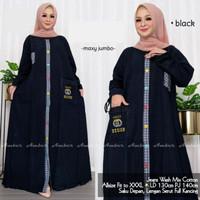 Cucu Danayta Maxi Dress Jeans Jumbo Ld 130 3Xl Baju Gamis Jins Lengan