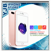 APPLE IPHONE 7 PLUS 128GB SEGEL GARANSI 1 TAHUN ALL OPERATOR - JEET BLACK