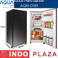 KULKAS 1 PINTU Aqua AQR-D181 / AQR D181 /AQR D 181 kapasitas 150 Liter