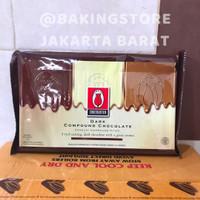 Coklat tulip dark chocolate compound | cokelat batang murah 1 kg