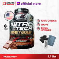 Muscletech Nitrotech Whey Gold 5.5lb Whey Protein Isolate Bstores - Chocolate