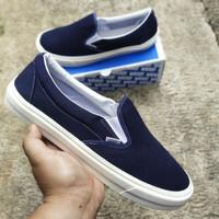 Sepatu Pria Vans Slip On Navy Big Size 45-46