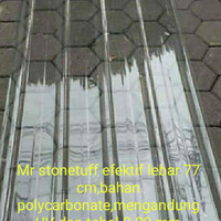 Atap rumah Spandex Transparent clear bening Polycarbonat 6 M