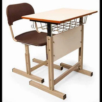 Meja Sekolah Estiga Plus Bangku Rangka Besi Berkualitas Tinggi
