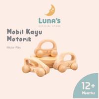 Luna's Mainan Mobil Mobilan Anak Dorong Mainan Edukasi Anak