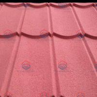 Genteng Metal Pasir 2x4 x 0.25mm - Merah
