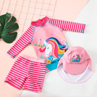 Baju renang anak perempuan premium/ setelan - unicorn M